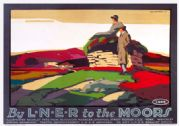 To The Moors, Yorkshire. LNER Vintage Travel Poster by Tom Grainger. 1924